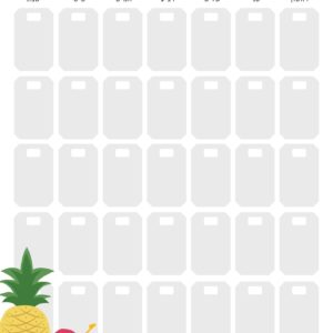 לוח תכנון חודשי טרופי